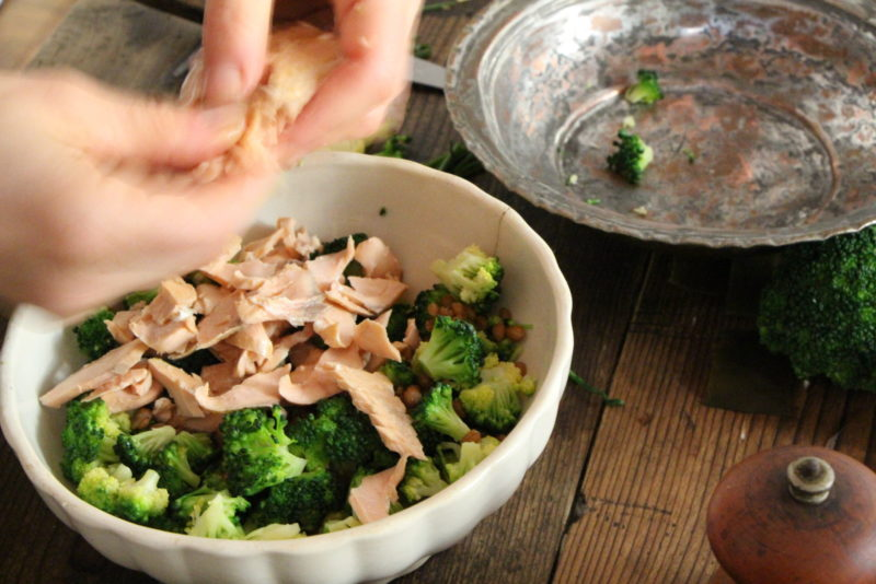 insalata di kamut e salmone