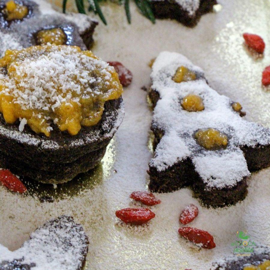 Alberi di Natale al cioccolato caffé e cardamomo