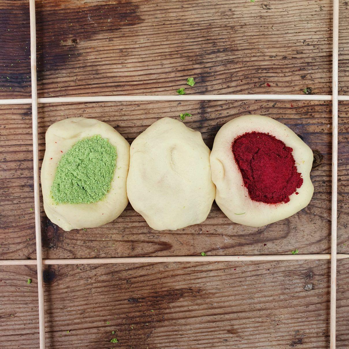 farine alimentari colorate naturali