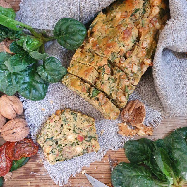 plumcake salato agli spinaci